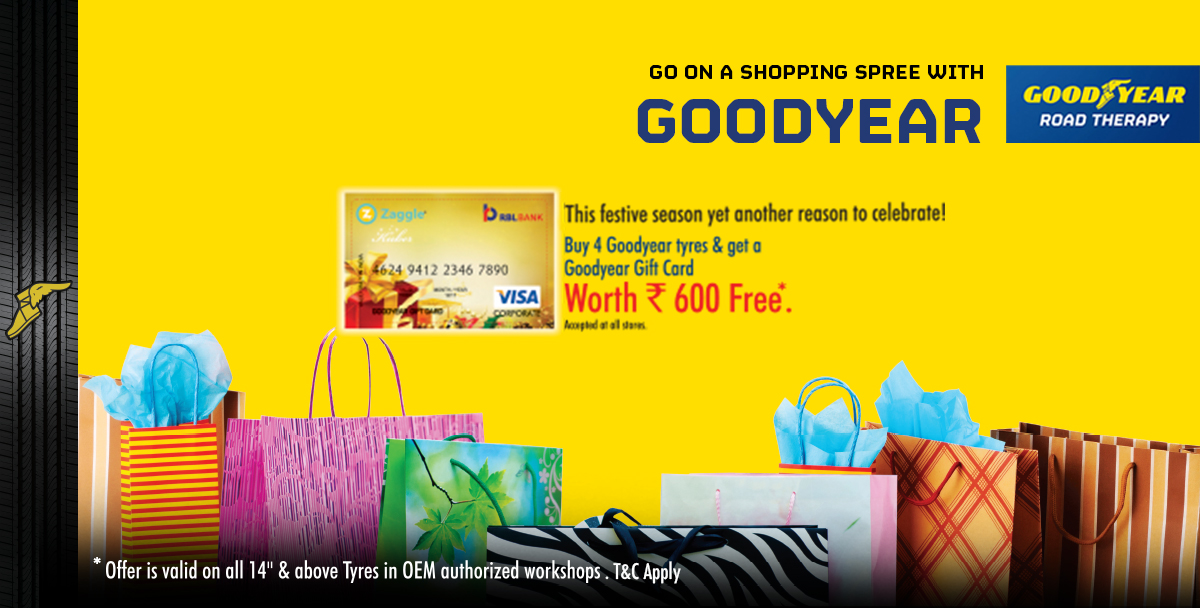 Goodyear Gift Card Offer For Oem Authorized Workshops